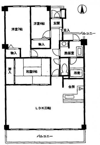 ライオンズマンション高槻南318 図面