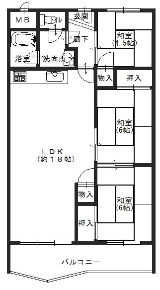 千里桃山台団地A-506 図面
