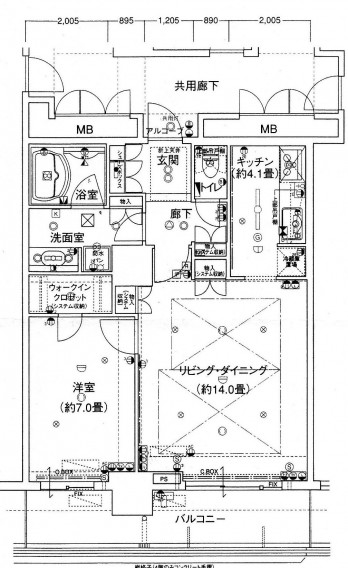 ローレルスクエア大阪ベイタワー1206 図面